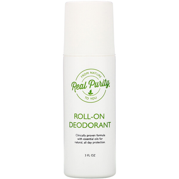 Real Purity, Desodorante roll-on, 3 oz. líq.