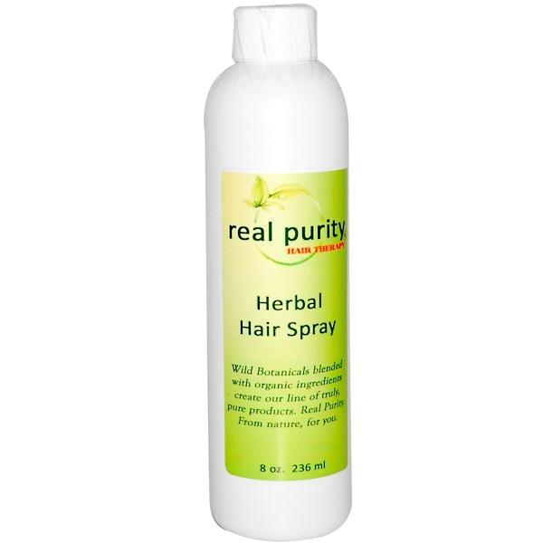 Real Purity, Hair Therapy, Herbal Hair Spray, 8 oz (236 ml) (Discontinued Item)