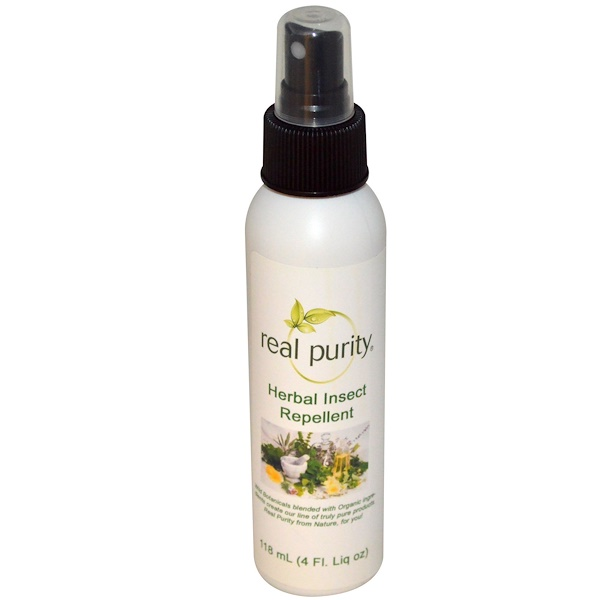 Real Purity, Herbal Insect Repellent, 4 fl oz (118 ml) (Discontinued Item)