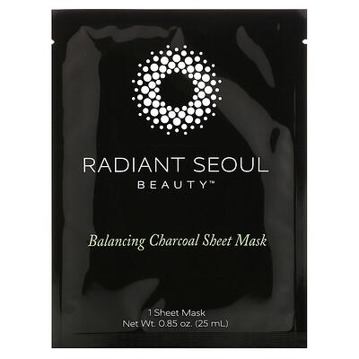 Купить Radiant Seoul Балансирующая угольная тканевая маска, 1 тканевая маска, 25 мл (0, 85 унции)