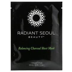 Radiant Seoul, Mascarilla de belleza equilibrante de carbón vegetal en lámina, 1mascarilla en lámina, 25ml (0,85oz)