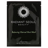 Radiant Seoul, Mascarilla equilibrante de carbón vegetal tipo lámina, 1mascarilla, 25ml (0,85oz)