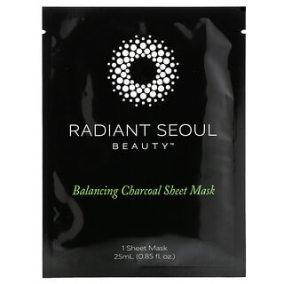 Radiant Seoul, Balancing Charcoal Beauty Sheet Mask, 1 Sheet Mask, 0.85 oz (25 ml)