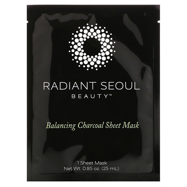 Balancing Charcoal Sheet Mask, 1 Sheet Mask, 0.85 oz (25 ml)