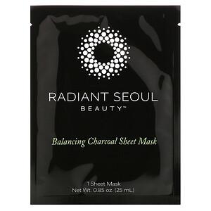 Radiant Seoul, Balancing Charcoal Sheet Mask, 1 Sheet Mask, 0.85 oz (25 ml) отзывы