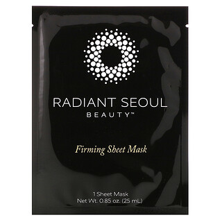 Radiant Seoul, 緊雅美容面膜,1 片裝面膜,0.85 盎司(25 毫升)