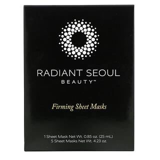 Radiant Seoul, Firming Beauty Sheet Mask, 5 Sheet Masks, 0.85 oz (25 ml) Each
