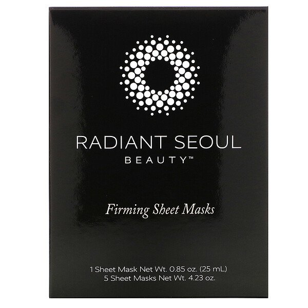 Radiant Seoul, Firming Beauty Sheet Mask, 5 Sheet Masks, 0.85 oz (25 ml) Each