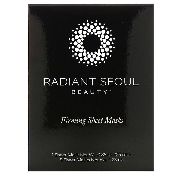 Radiant Seoul, Firming Sheet Mask, 5 Sheet Masks, 0.85 oz (25 ml) Each