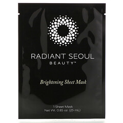 Radiant Seoul, Masker Kecantikan Lembaran Pencerah Kulit, 1 Lembar Masker, 25 ml (0,85 ons)