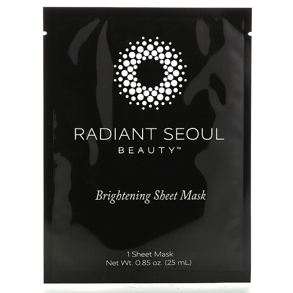 Radiant Seoul, Brightening Sheet Mask, 1 Sheet Mask, 0.85 oz (25 ml)