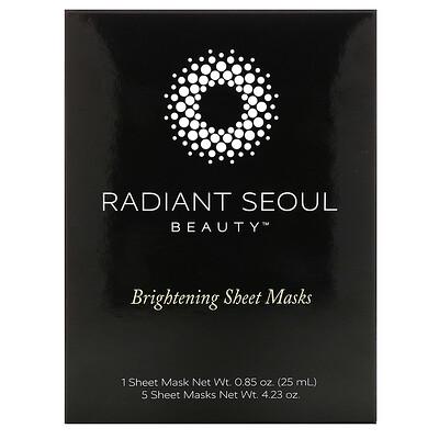 Купить Radiant Seoul осветляющая тканевая маска, 5шт. по 25мл (0, 85унции)