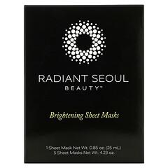 Radiant Seoul, 亮膚美容面膜,5 片裝面膜,每片 0.85 盎司(25 毫升)