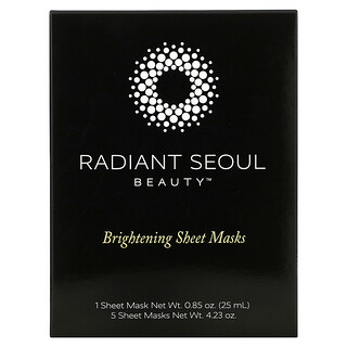 Radiant Seoul, Brightening Beauty Sheet Mask, 5 Sheet Masks, 0.85 oz (25 ml) Each