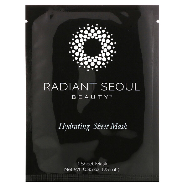 Radiant Seoul, Hydrating Beauty Sheet Mask, 1 Sheet Mask, 0.85 oz (25 ml)