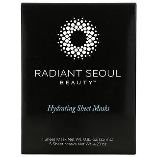 Radiant Seoul, Hydrating Beauty Sheet Mask, 5 Sheet Masks, 0.85 oz (25 ml) Each