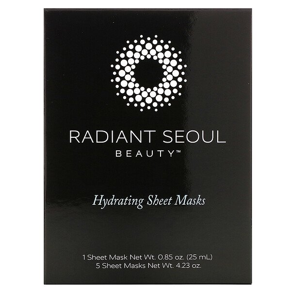 Hydrating Beauty Sheet Mask, 5 Sheet Masks, 0.85 oz (25 ml) Each