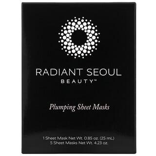Radiant Seoul, قناع ورقي لبشرة ممتلئة من Beauty، 5 أقنعة ورقية، 0.85 أونصة (25 مل) لكل قناع