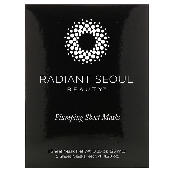Plumping Beauty Sheet Mask, 5 Sheet Masks, 0.85 oz (25 ml) Each