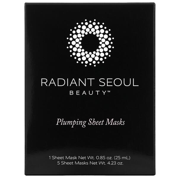 Plumping Beauty Sheet Mask, 5 Sheet Masks, 0.85 oz (25 ml) Each
