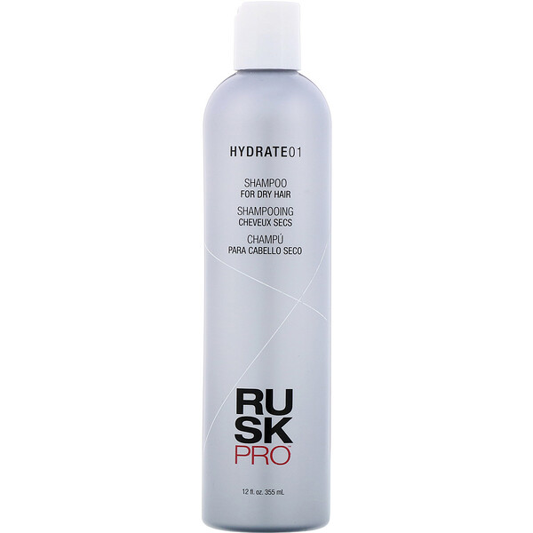 Rusk, Pro, Hydrate 01, shampoo, para cabelos secos, 355 ml (Discontinued Item)