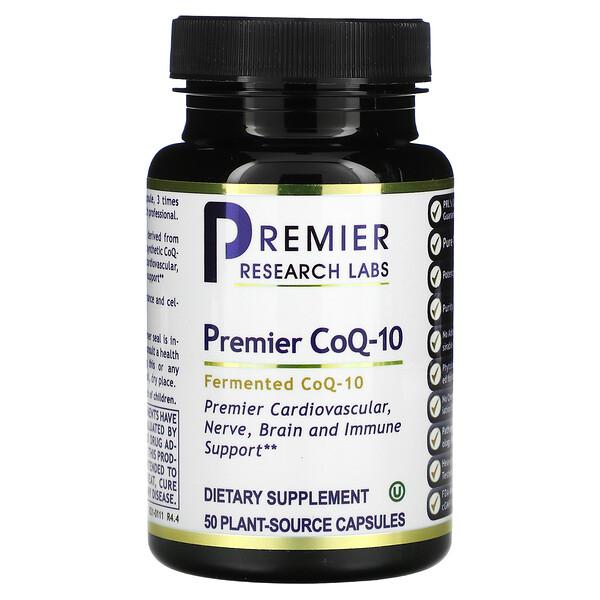 Premier CoQ-10, Fermented, 50 Plant-Source Capsules