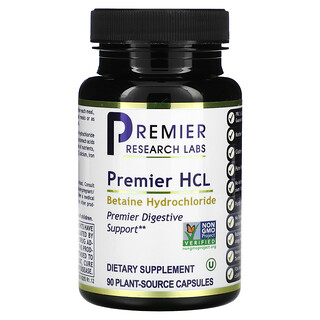 Premier Research Labs, Premier HCL, 90 Plant-Source Capsules