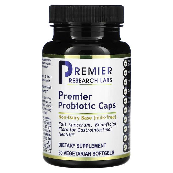 Premier Probiotic Caps, 60 Vegetarian Softgels