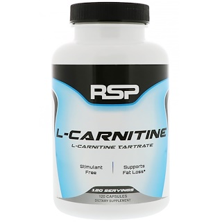 RSP Nutrition, L-Carnitine, 120 Capsules