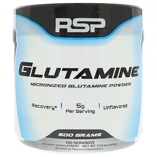 RSP Nutrition, Micronized Glutamine Powder, 17.6 oz (500 g)