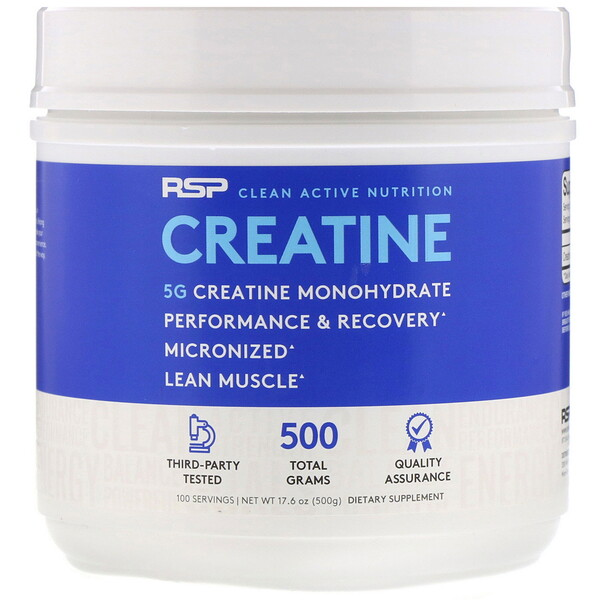 Creatine Monohydrate, Micronized Creatine Powder, 5 g, 17.6 oz (500 g)