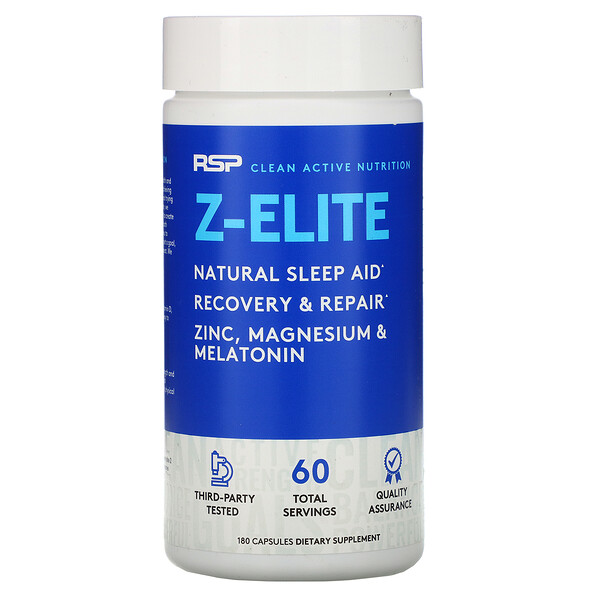 RSP Nutrition, Z-Elite, Natural Sleep Aid, 180 Capsules