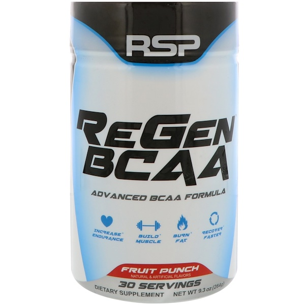 RSP Nutrition, ReGen BCAA, Fruit Punch, 9.3 oz (264 g)