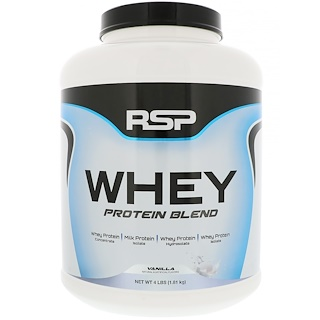 RSP Nutrition, Whey Protein Blend, Vanilla, 4 lbs (1.81 kg)