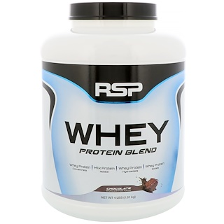 RSP Nutrition, ホエイプロテインブレンド、チョコレート、4ポンド (1.81 kg)