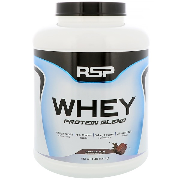 RSP Nutrition, Whey Protein Blend, Chocolate, 4 lbs (1.81 kg) (Discontinued Item)