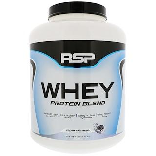 RSP Nutrition, ホエイプロテインブレンド、クッキー&クリーム、4 lbs (1.81 kg)