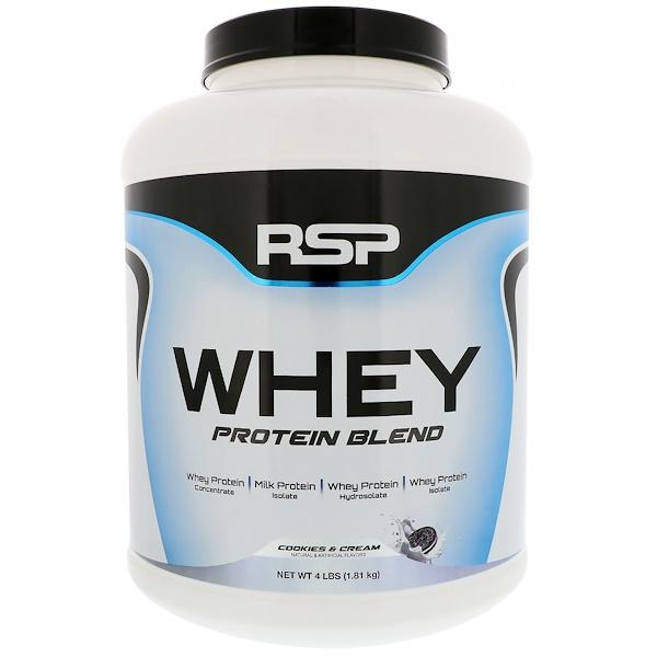 RSP Nutrition, 乳清蛋白混合,奶油曲奇味,4磅(1、81公斤)