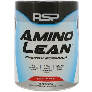 RSP Nutrition, Amino Lean Energy Formula, Fruit Punch, 8.25 oz (234 g)