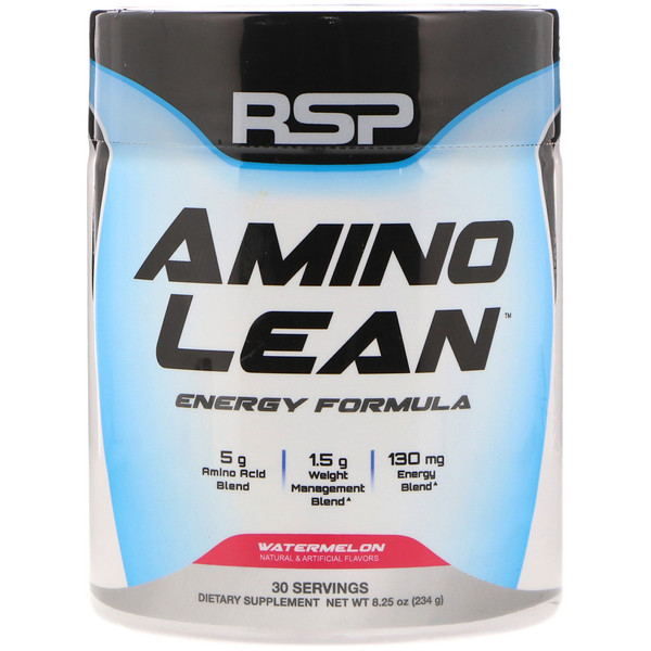 RSP Nutrition, AminoLean, Weight Management + Energy Formula, Watermelon, 8.25 oz (234 g) (Discontinued Item)