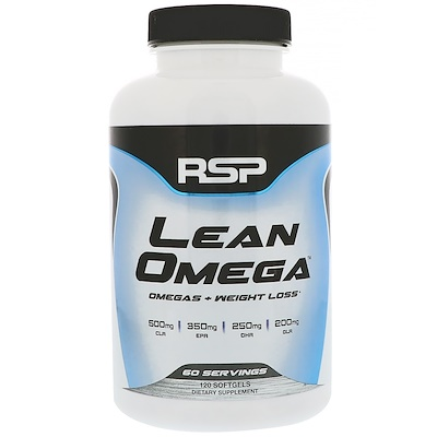 RSP Nutrition Lean Omega, Omegas+Weight Loss, 120 Softgels