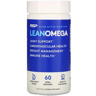 RSP Nutrition, LeanOmega, 120 Softgels