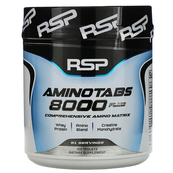 RSP Nutrition, AminoTabs 8000 Plus, 325 таблеток