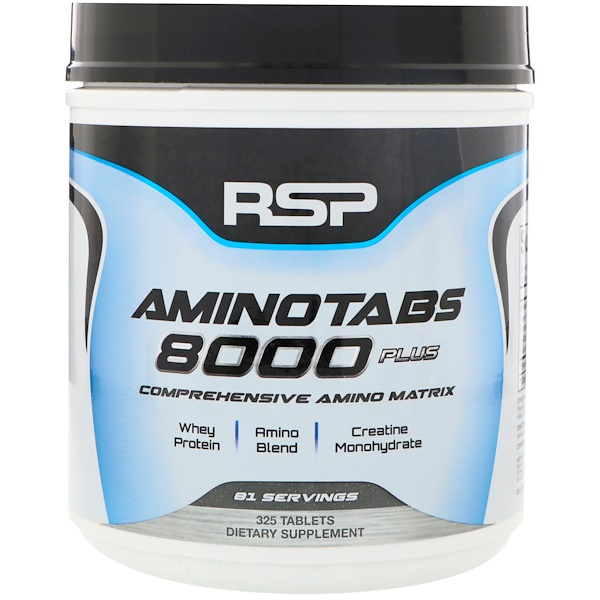RSP Nutrition, Amino Tabs 8000 Plus, 325 Tablets