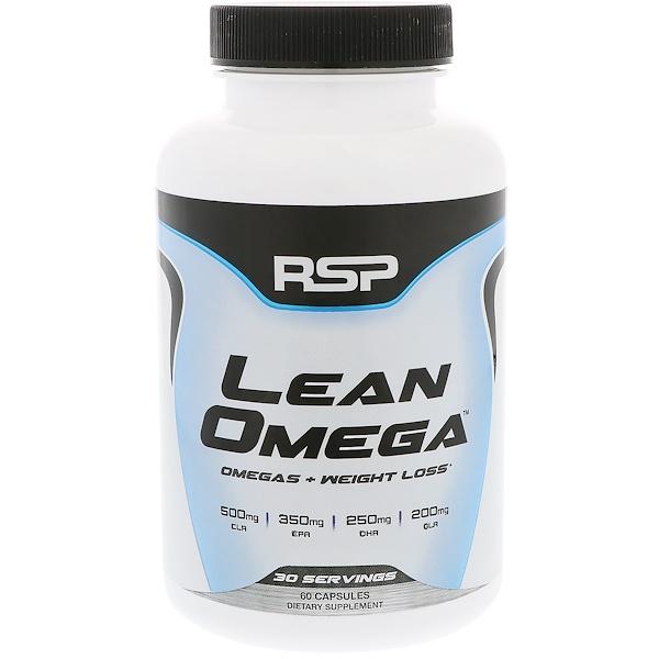 RSP Nutrition, リーンオメガ、オメガ+減量、ソフトゲル60錠 (Discontinued Item)