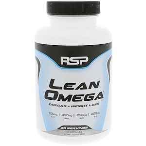RSP Nutrition, Lean Omega, Omegas + Weight Loss, 60 Softgels отзывы покупателей