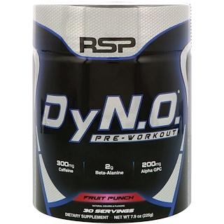 RSP Nutrition, DyN.O. プレワークアウト、フルーツパンチ、7.9 oz (225 g)