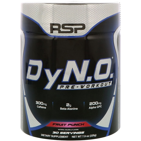 RSP Nutrition, DyN、O、 鍛煉前,水果賓治,7、9盎司(225克)
