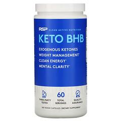 RSP Nutrition, 酮BHB,240粒素食膠囊