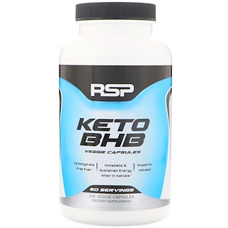 RSP Nutrition, ケトBHB、植物性カプセル240個